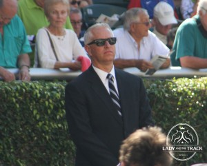 Trainer Todd Pletcher, Julien Leparoux, and Winning Cause won the 2013 Coolmore Lexington Stakes today.