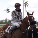 Dreamingofcarmelia and Joseph Rocco won the 7th race at Gulfstream Park.
