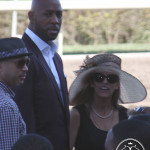 Miami Heat's Alonzo Mourning and Jennifer Vitrella.