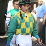 Jockey Alan Garcia Florida Derby 2013 Gulfstream Park.