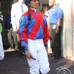 Jockey Jose Lezcano Florida Derby 2013 Gulfstream Park.