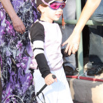 The cutest jockey at Gulfstream Park.