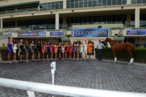 "Pure Fun with ""the girls"" at Gulfstream Park. Pure Fun will break from post position #10 in the Coolmore Lexington Stakes on Saturday April 20, 2013."