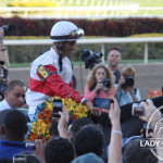 Orb and John Velazquez head to the Winners Circle.