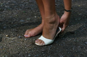 Bring a spare pair of flip-flops or ballet flats to the Kentucky Derby.