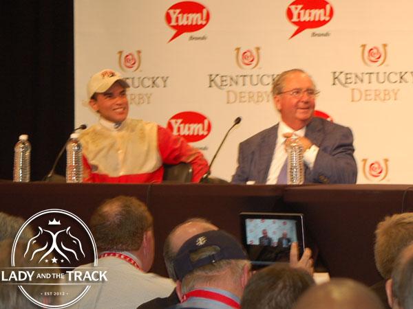 Shug and Joel Rosario 2013 Kentucky Derby.