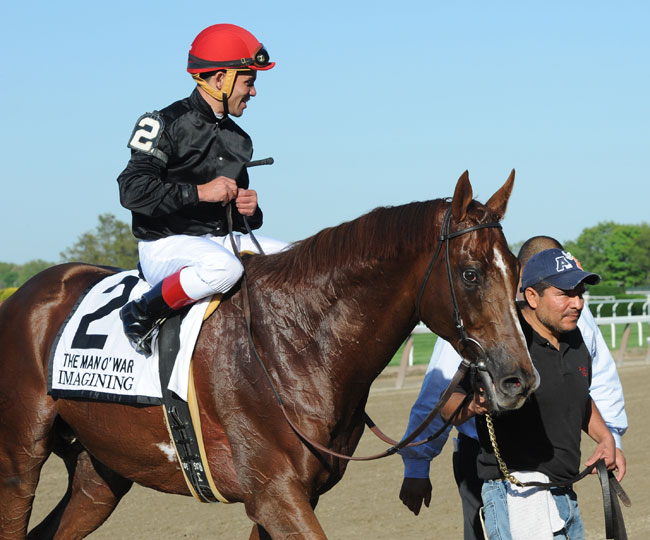 Imagining Wins Man O War Stakes Results Amp Replay Lady