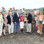 Tapiture and Rosie Napravnik won the West Virginia Derby at Mountaineer.