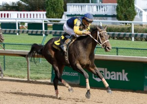 "Cocked and Loaded, who was coming off back-to-back losses in stakes races in New York and Chicago, is now the points leader on the 2016 ""Road to the Kentucky Derby"" following a strong return-to-form two-length victory under jockey Emmanuel Esquivel in the 34th running of the $150,000 Iroquois Presented by U.S. Bank (Grade III) for 2-year-olds at 1 1/16 miles on Saturday at Churchill Downs. Photo: Churchill Downs/Reed Palmer Photography"