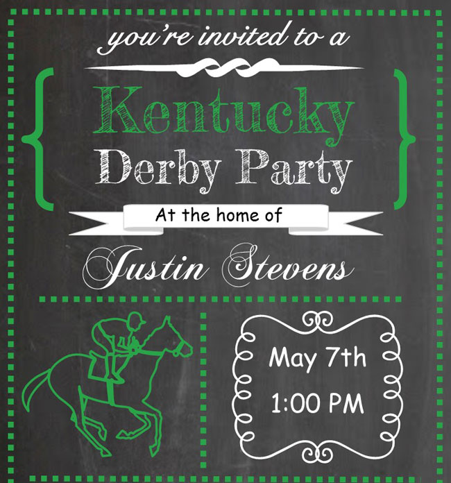 Planning the Perfect Kentucky Derby Party at Home – Derby Party Invitations