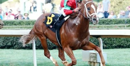 Malagacy wins the 2017 Rebel Stakes (GII) at Oaklawn Park. Photo: Coady Photography