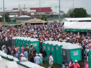 The very crowded infield on Derby Day at Churchill Downs, 5/6/17. Photo: Mary Perdue