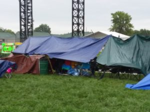 Tents in the infield at Churchill Downs on Kentucky Derby Day, 5/6/17. Photo Mary Perdue