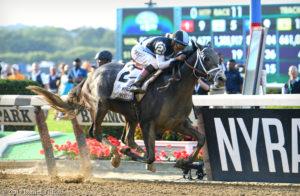 Tapwrit wins the 149th Belmont Stakes, 6/10/17. Photo: Daniella Ricci