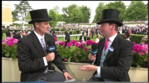 Veteran British racing presenter Nick Luck anchored the ITV coverage of Royal Ascot in 2017. Photo: @NickLuck (twitter)