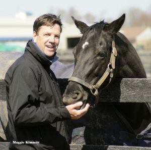 Trainer Graham Motion and his Breeders' Cup Turf champion Better Talk Now. Photo: Herringswell Stables