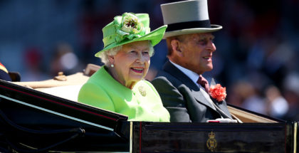 Queen Elizabeth II and Prince Phillip arrive at Royal Ascot, 6/20/17. Photo: Ascot Racecourse