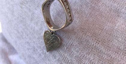 Garrett Gomez's wedding ring and thumbprint. Photo: Pam Gomez