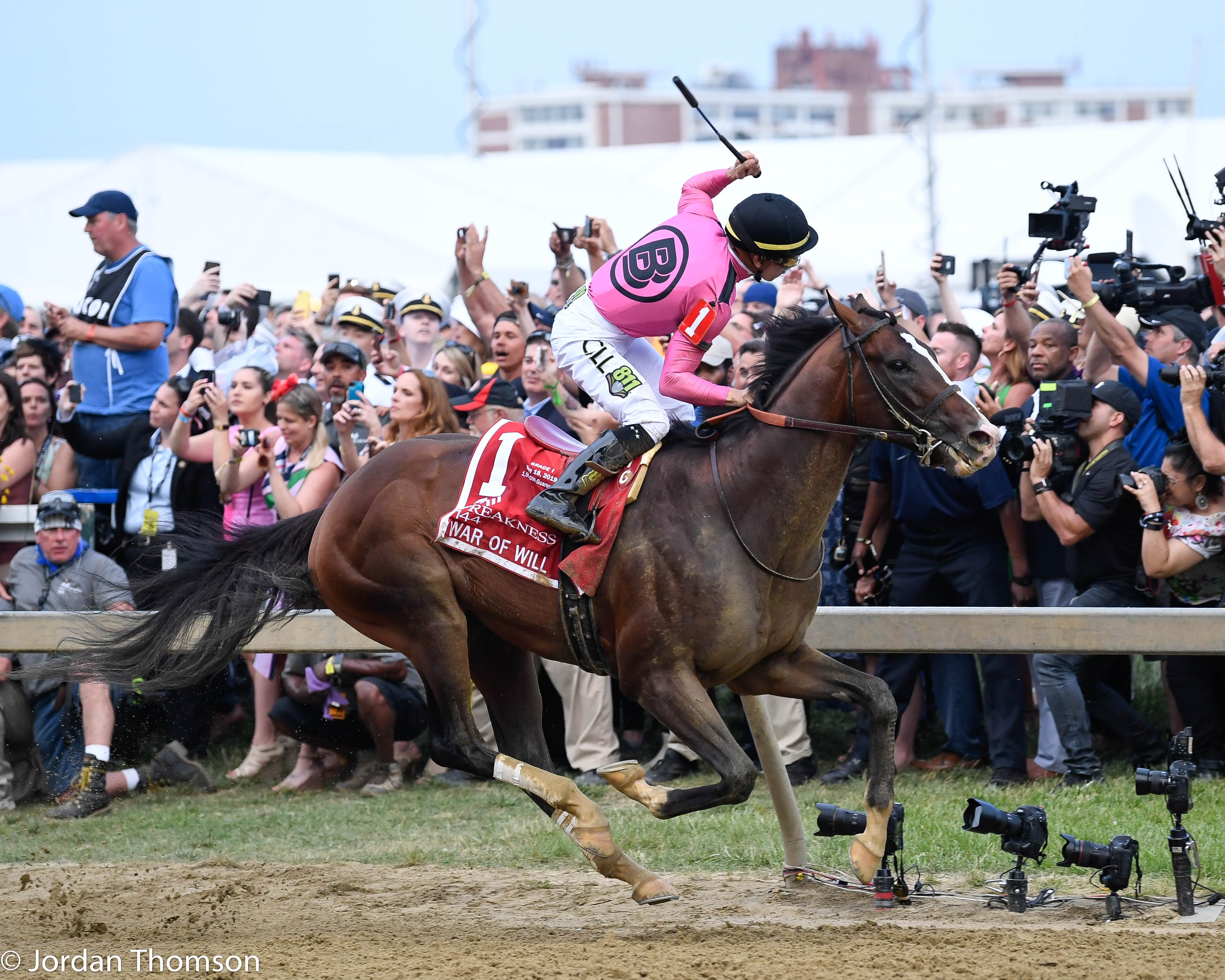 War Of Will Brushes Off Derby Kerfuffle Picks Up Preakness Win Lady And The Track